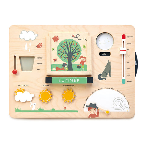 Tender Leaf Toys | Wooden Weather Station