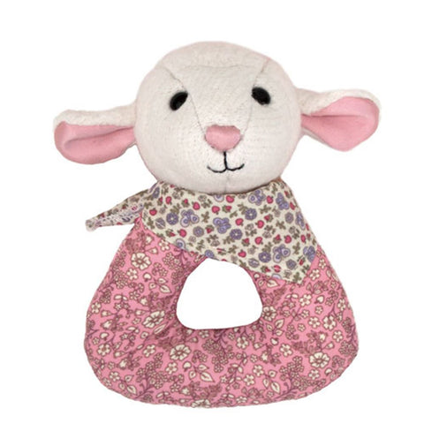 Apple Park | Lamby Patterned Rattle