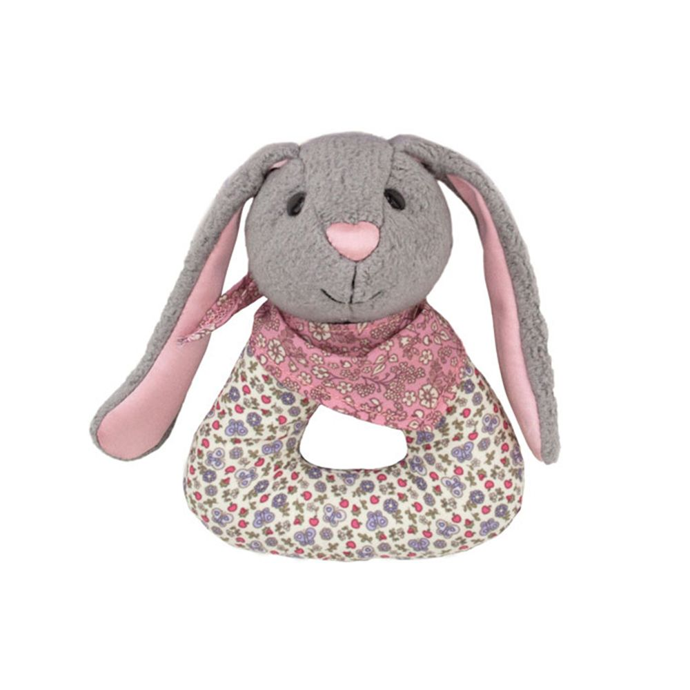 Apple Park | Bunny Patterned Rattle