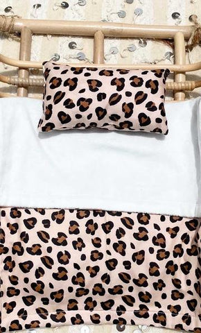 Eve Junior Designs | Reversible Minky Blanket & Pillow Set | Leopard