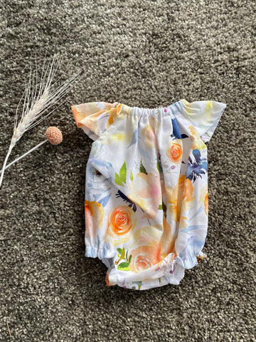 Eve Junior Design | Lyla Romper | Water Colour Floral 35 - 40 cm