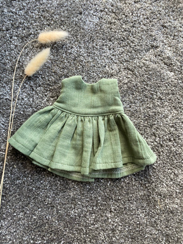 Eve Junior Design | Amelia Dress | Green Gauze | 32 - 38 cm