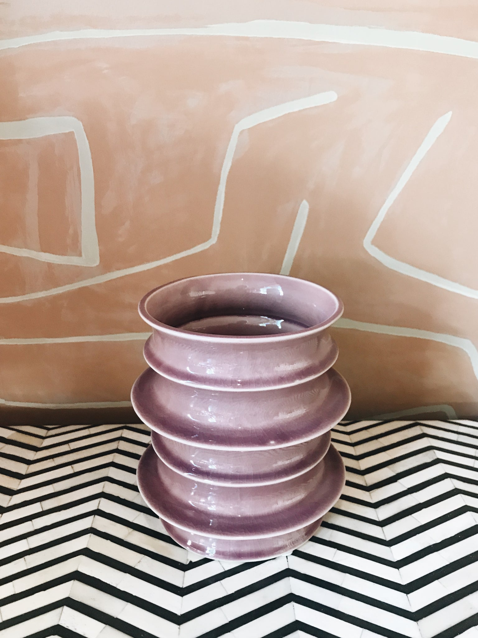 Vase Pottery Purple