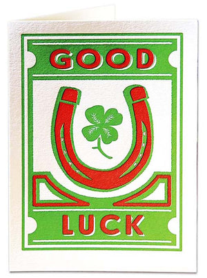 Card Good Luck large
