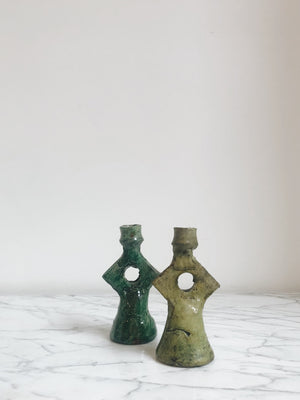 Candle Holders Marocco Star Light Green