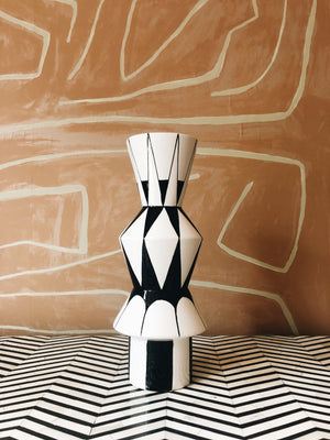 Vase Black and White Graphic