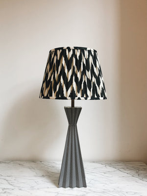 Lampshade Ikat Black & White