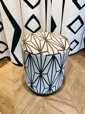 Stool Kelly Wearstler Fabric Black and White