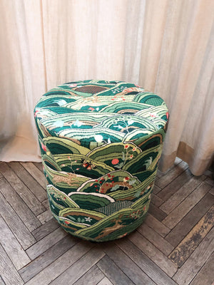 Stool Schumacher Fabric Green