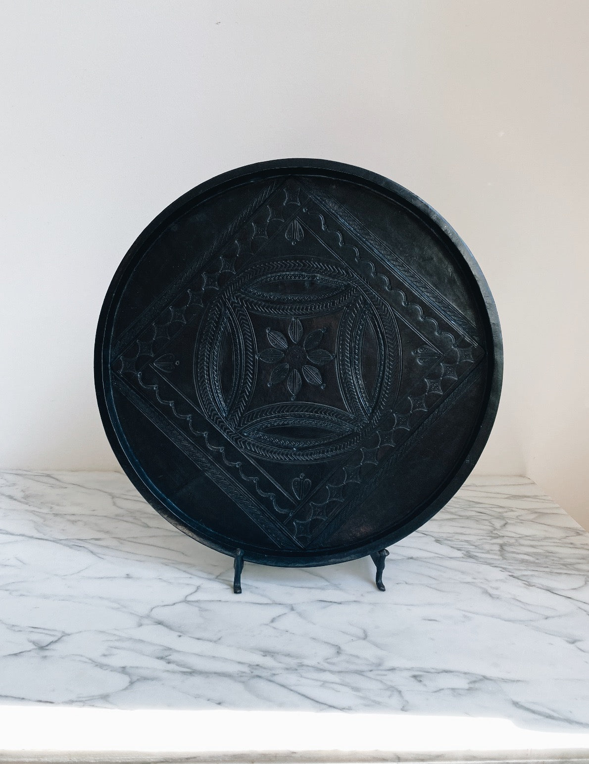 Decoration Plate Leather Big