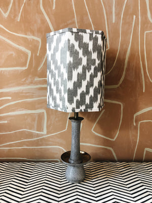 Lamp Grey & Ikat Shade