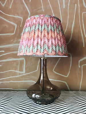 Lamp Glass & Ikat Shade