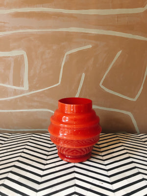 Vase Glass Red