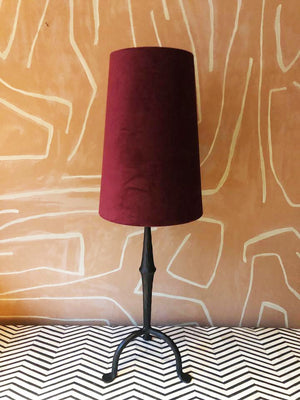 Lampshade Velvet Red Cone