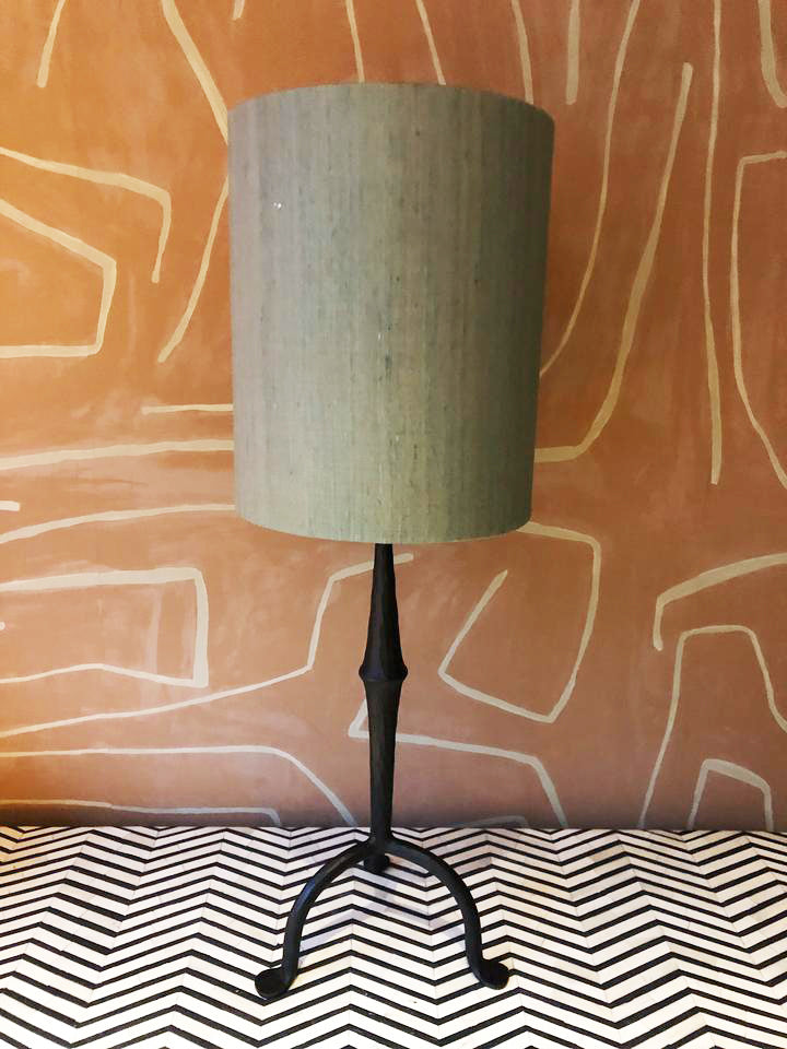 Lampshade Silk Round Green