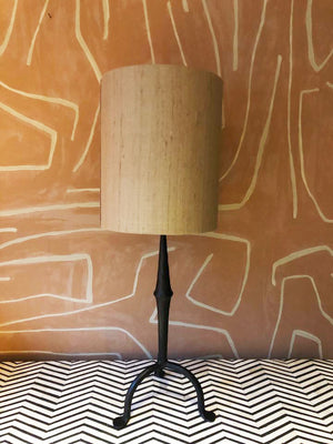 Lampshade Silk Round Brown Gold