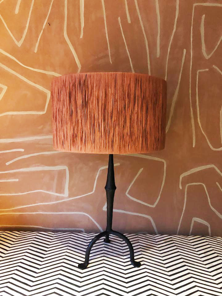 Lampshade Rotan Orange