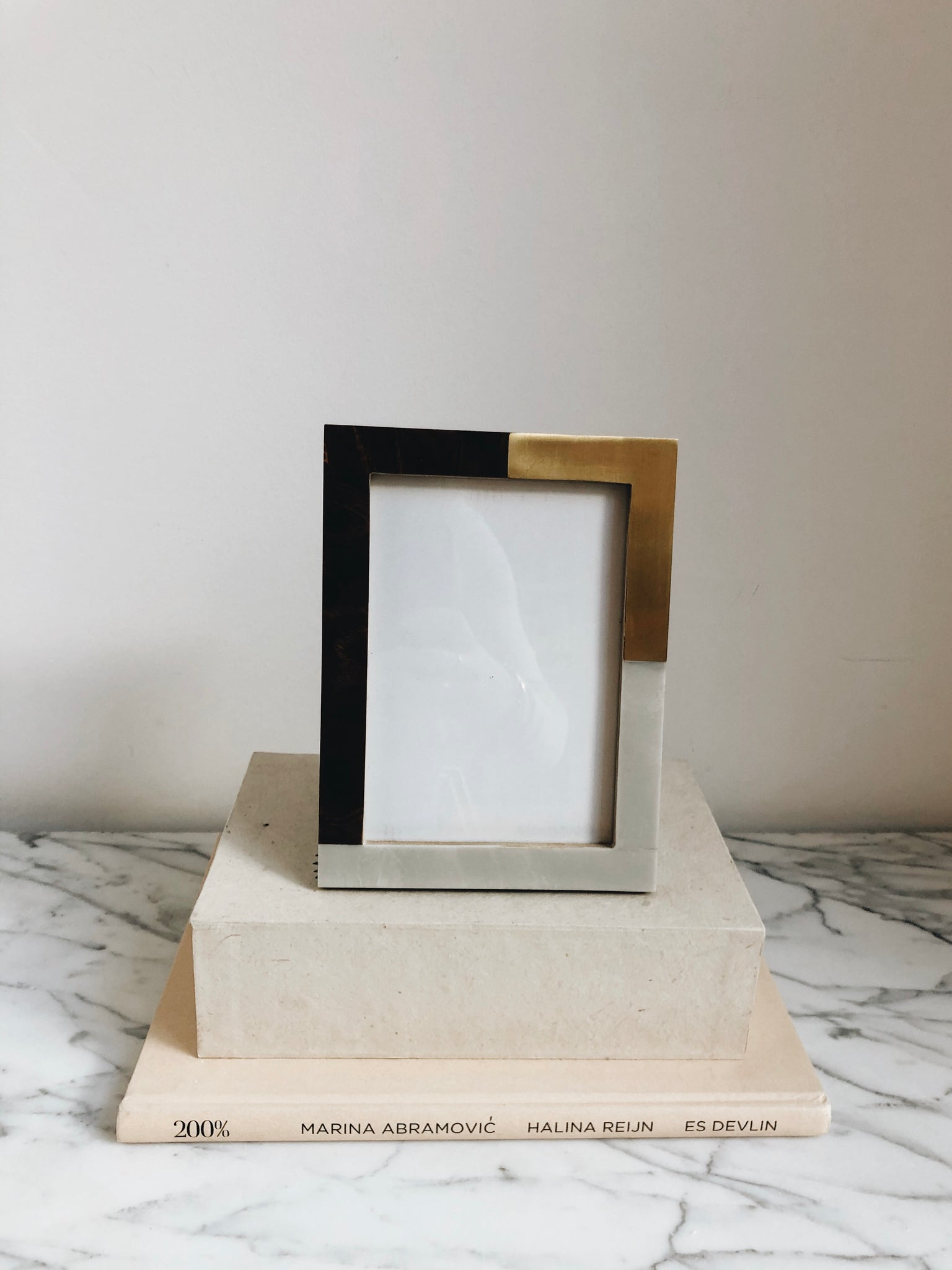 Picture Frame Marble Brown