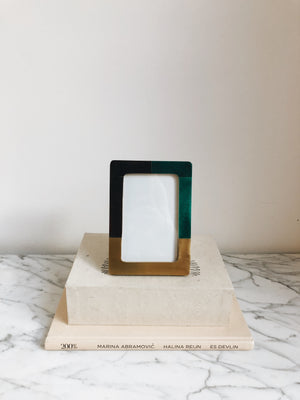Picture Frame Malachite Brown
