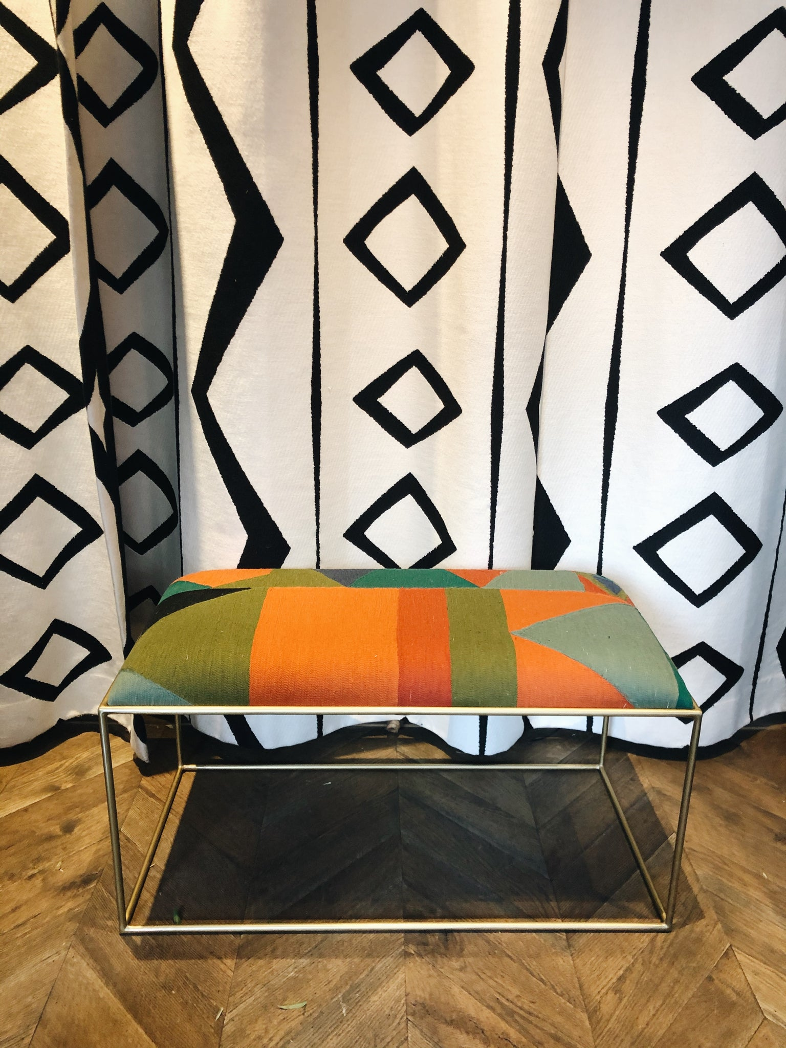 Bench Pierre Frey Fabric