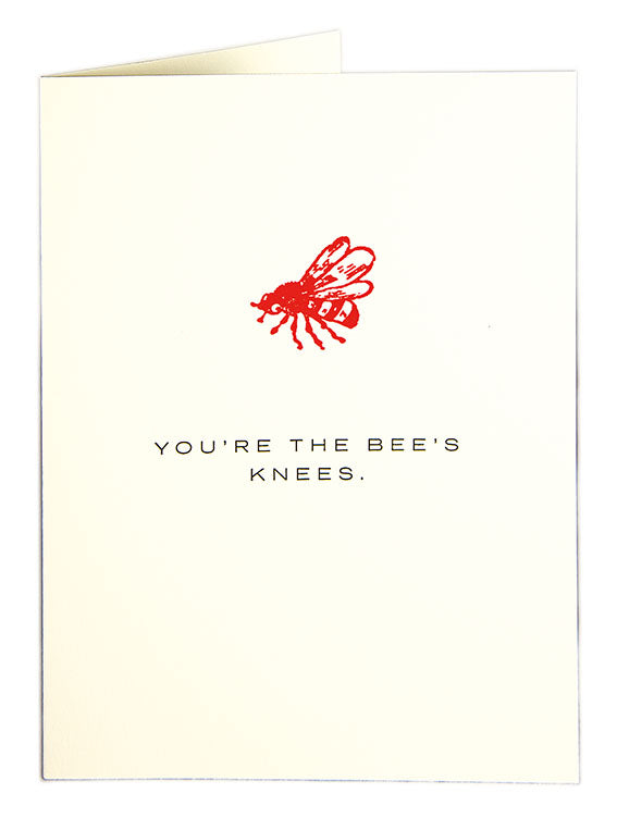 Card Bees Knees large