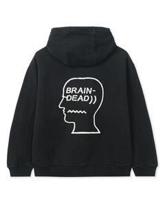 BRAIN DEAD SPEEDTEXT HOODED SWEATSHIRT