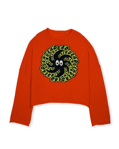 BRAIN DEAD SPIT IT OVERSIZED CROPPED BOXY SWEATER