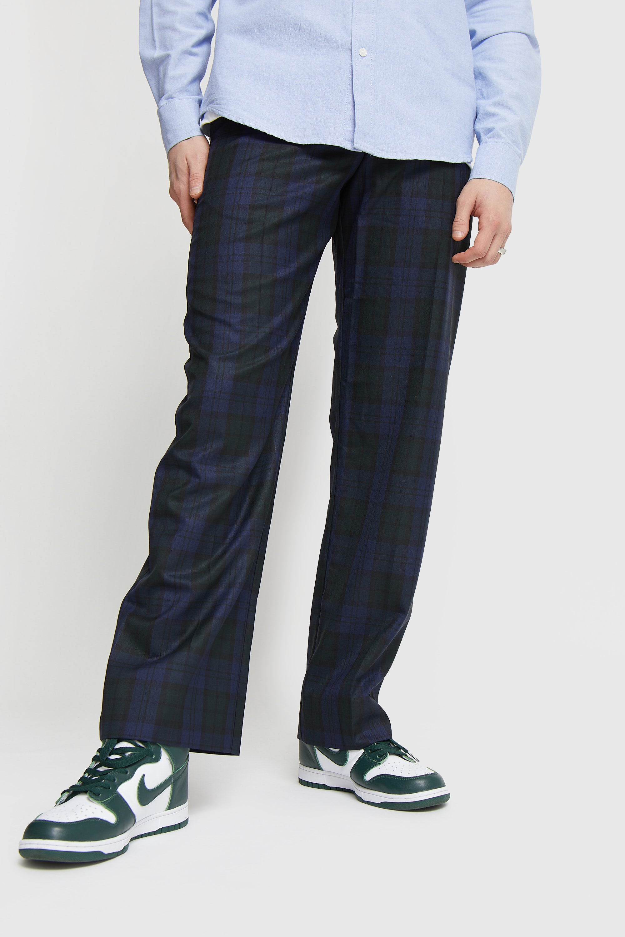 WOOD WOOD SURREY CHECKED TROUSERS