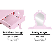 Load image into Gallery viewer, Kids Dressing Table with Stool Set - Pink