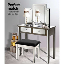 Load image into Gallery viewer, Mirrored Dressing Table Dresser with Stool