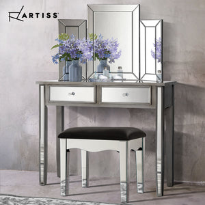 Mirrored Dressing Table Dresser with Stool