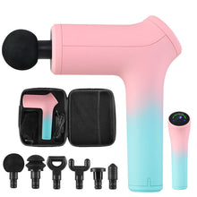 Load image into Gallery viewer, LCD Electric Massager Gun 6 Heads Muscle Percussion Therapy - Multicolour