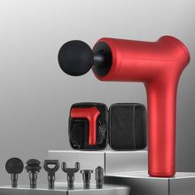 Load image into Gallery viewer, LED Electric Massager Gun 6 Heads Muscle Percussion Therapy - Red
