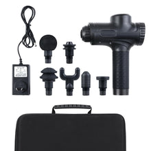 Load image into Gallery viewer, LED Electric Massager Gun 6 Heads Muscle Percussion Therapy - Black
