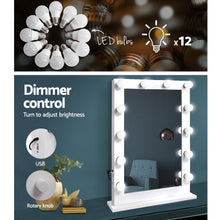 Load image into Gallery viewer, Make Up Mirror with LED Lights - White