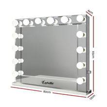 Load image into Gallery viewer, Make Up Mirror with LED Lights - Silver