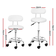 Load image into Gallery viewer, Set of 2 Swivel Salon Stool - White