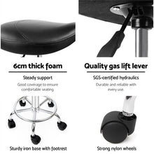 Load image into Gallery viewer, Swivel Saddle Salon Stool - Black