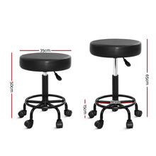 Load image into Gallery viewer, Round Swivel Salon Stool - Black
