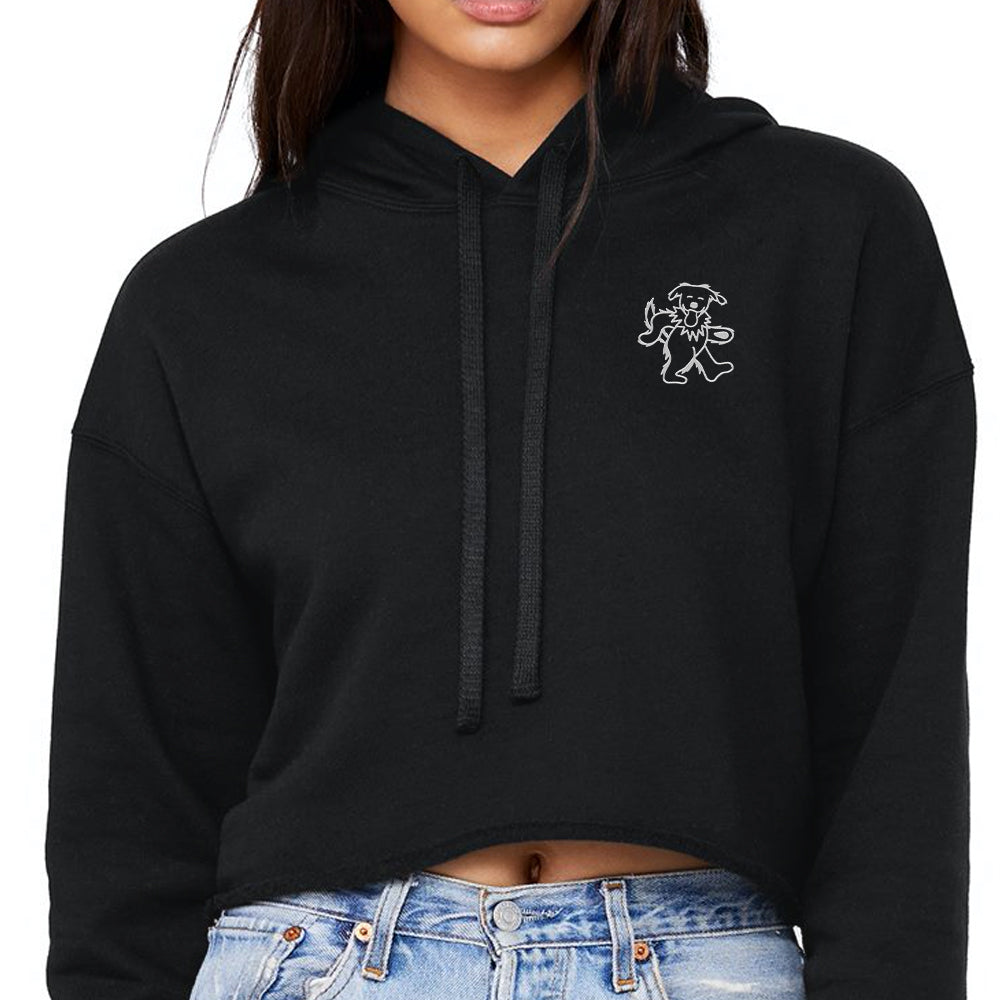Dancing Frank Emb. Crop Hoody (Black)