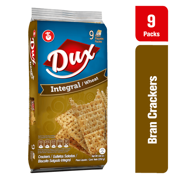Dux Galletas de Trigo Bolsa 8.8 oz - 9 ct