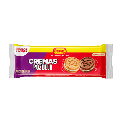 Cremas Pozuelo Mixta (Chocolate-Vainilla) Bolsa 12.70 Oz - 12 ct
