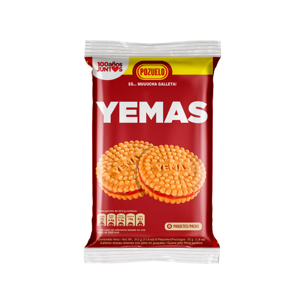 Yemas Cookies Bag 11.01 Oz - 12 ct