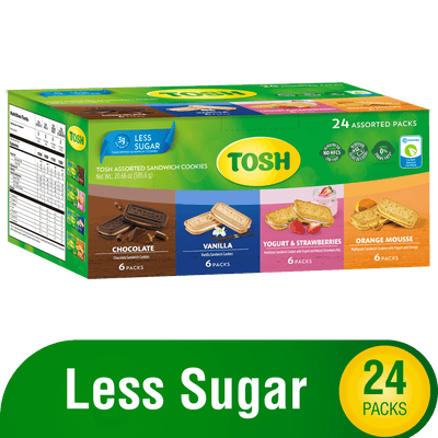 Tosh Cream Cookies 24 Assorted Packs 20.6 Oz - 24 ct