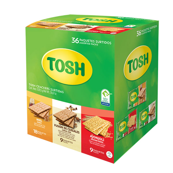 Tosh Cracker 36 Assorted Packs 36.67 Oz - 36 ct