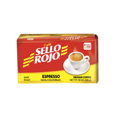 Sello Rojo Espresso Ground Coffee 10 Oz