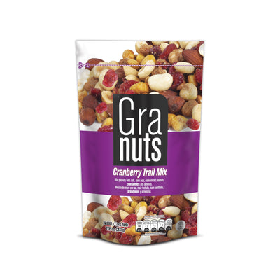 Granuts Cranberry Trail Mix Doypack 7.05 Oz