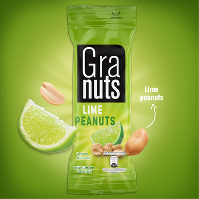 Granuts Lime Peanuts Display 1.76 Oz - 12 ct