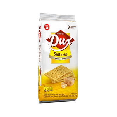 Dux Cheese & Butter Crackers Bag 8.8 Oz - 9 ct