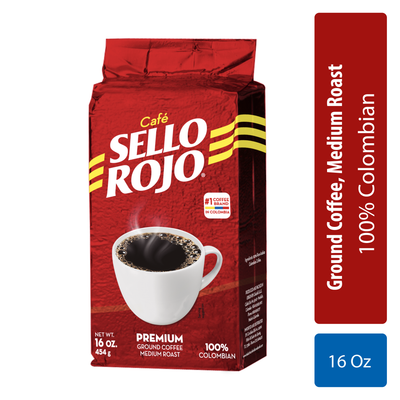 Sello Rojo Café Molido Bloque 16 Oz